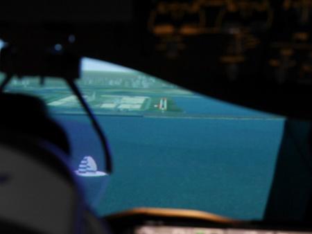 気象条件がよい状態では、羽田の滑走路がこれぐらいはっきりと見える