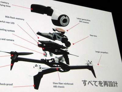 前作のBebop Droneからすべてのパーツを新設計としたBebop 2