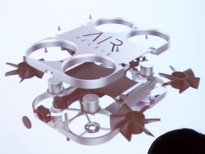 AirSelfieの内部構造。比較的シンプルな作りといえる