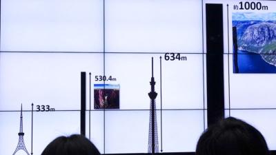 今回登頂するノルウェーのフィヨルドは、東京スカイツリーをはるかに上回る1000mほどの高さがある。登り始めて100mほどで、地上からは肉眼で視認できなくなる