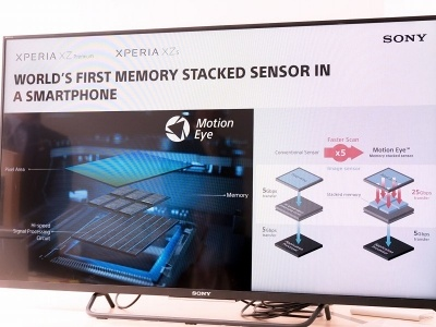 ソニーのデジカメでおなじみのメモリー積層型CMOSセンサーをスマホに応用する