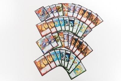各プレーヤーは40枚の「デッキ」を用意