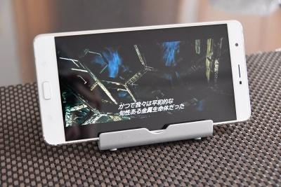 ZenFone 3 Ultraは画面が大きいため、表示される映像も臨場感がある