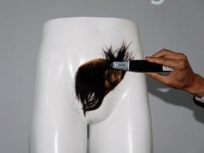 さすがに毛が多すぎたのか、少々時間がかかったが…