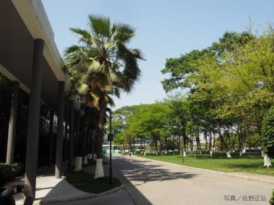中国・東莞市にあるOPPOの工場本社。22万平米の広大な敷地を誇り、食堂や寮、レクリエーション施設なども完備されている