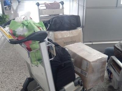 中国の国際空港では日本で購入したアマゾンの商品をよく目にする