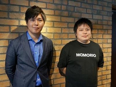 MAMORIO社長の増木大己氏(右)と最高執行責任者(COO)の泉水亮介氏(左)
