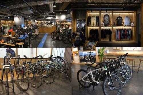 1Fのサイクルショップ「ル・サイク」は主にビギナーやこれから自転車を始めるユーザーを対象にしている。比較的安価なクロスバイクを中心に、ジャイアントやビアンキ、メリダといったメジャーブランドの完成車約300台のほか、ウエアやアクセサリーを取りそろえる。また、スポーツサイクルのレンタルも行っており、ロードバイク、クロスバイクなどに加え、日本ではまだ珍しいスポーツ電動アシスト自転車「e-BIKE」を借りることも可能だ