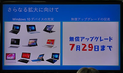 Windows 7/8.1のパソコンをWindows 10に無償アップグレードできるのは、今年の7月29日までだ