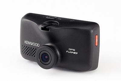 「ワンボディー型」のドライブレコーダー。レンズと操作部が一体型で取り付けやすい。写真はJVCケンウッドの「DRV-610」(実売価格2万2000円)