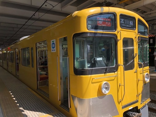 10時53分に所沢を発車する急行「本川越」行きに乗車。本川越駅までの運賃は267円でした(ICカード利用)