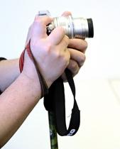 カメラを設置して実際に使っているところ