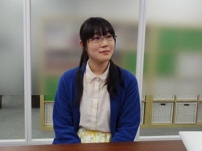 コンテンツプロデュース部ディレクショングループ東京のグループリーダー・角川千里さん。『バトルスポーツ めく~る』の企画者であり、開発のリーダーに抜てきされた