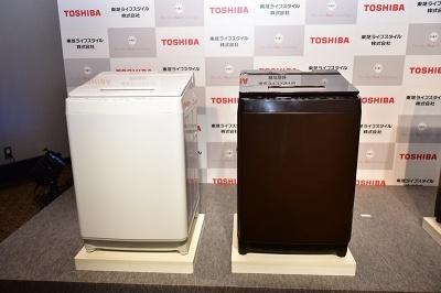 左が洗濯10kg対応の「AW-10SD6」、右が洗濯9kg対応の「AW-9SD6」