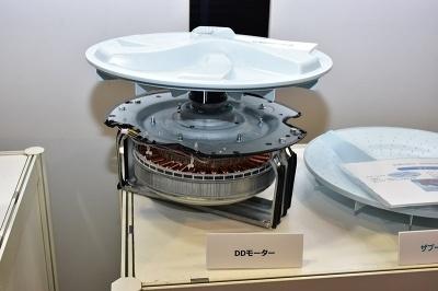 ザブーンシリーズは騒音の原因となるギアやベルトがないダイレクトドライブ方式のモーターを採用している