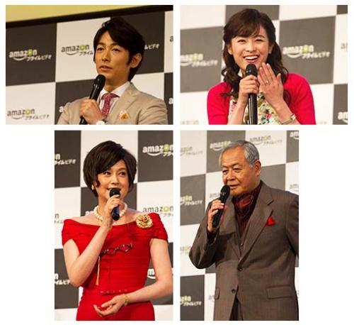 「はぴまり ~Happy Marriage!?~」に出演するディーン・フジオカさん、清野菜名さん、藤原紀香さん、小野武彦さんが登場した