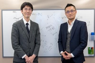 和(なごみ)を運営する、和からの堀口智之社長(右)と、インタビュアーの高橋晋平氏(左)