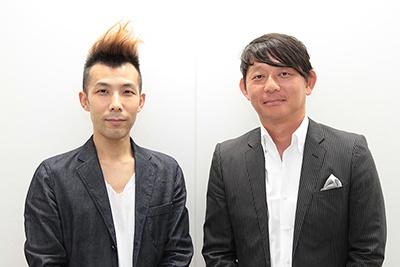 エイベックス・ミュージック・クリエイティヴの音楽事業本部 第3音楽事業部で浜崎あゆみを担当する米田英智事業部長(左)とエイベックス・グループ・ホールディングス社長室の部長で、AWAの取締役を務める若泉久央氏