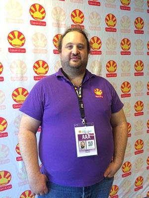ジャパン・エキスポの創立者であり、JTS Group の最高経営責任者であるトマ・シルデ氏。5つのジャパン・エキスポの広報やマーケティング、事業開発までも担当している