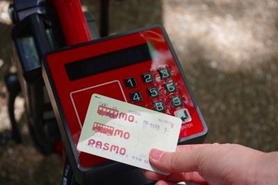会員証登録番号の入力後、カードをかざして登録が済むと開錠する