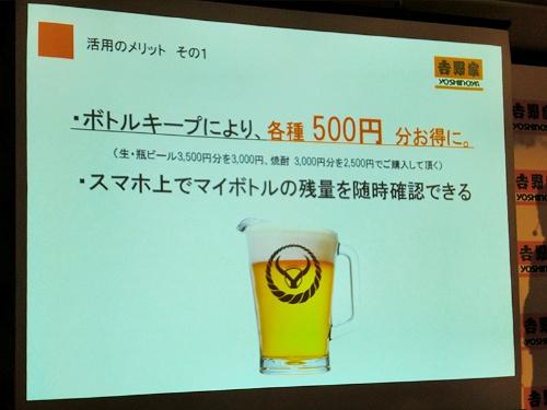 スマホ上の画像でマイボトルの残量が随時確認できる