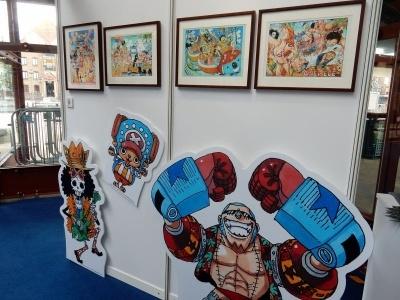 「ワンピース」をはじめ、週刊少年ジャンプの原画なども展示されていた