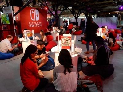 Nintendo Switchのコーナーは大盛況