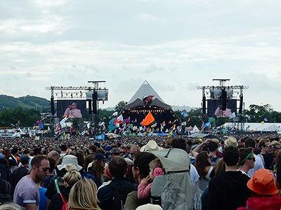 6月下旬に英南西部サマセットで行われる「グラストンベリー・フェスティバル」