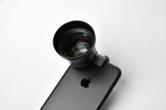 ExoLens テレフォトレンズはiPhoneに装着するとかなり大きくなる
