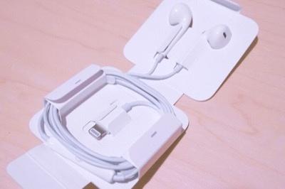 「EarPods」のLighning端子版「EarPods with Lightning Connector」が付属している