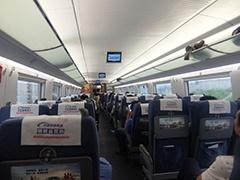 高速鉄道CRH(和諧号)の車内は日本と変わらない