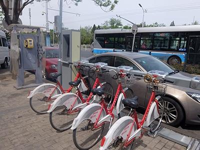 中国各地にある公共の自転車レンタルサービス