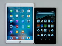 iPad Pro(9.7型)とサイズ比較。fire HD8は文庫サイズの読書に向いている