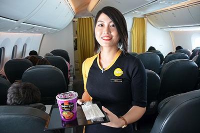 スクートには日本人客室乗務員も乗務