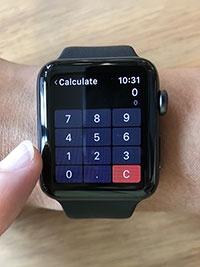 Apple Watchで計算をしてみても、それほどストレスを感じない。ちょっとした計算であれば、十分に可能だ