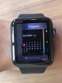 watchOS 3の新機能、Dock。Apple Watch右横のボタンを押さないと表示されないなど、使い勝手はグランスのほうがよかった