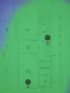 ▼802.11acのWi-Fiルーター(1階)