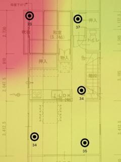 ▼802.11acのWi-Fiルーター(2階)