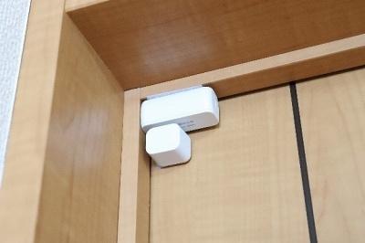 ドアセンサーは仕事場の扉に設置