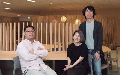 三宅陽一郎氏(左)はスクウェア・エニックステクノロジー推進部リードAIリサーチャー。TELYUKAは石川晃之氏(右)、石川友香氏(中)によるデジタルアーティストユニット