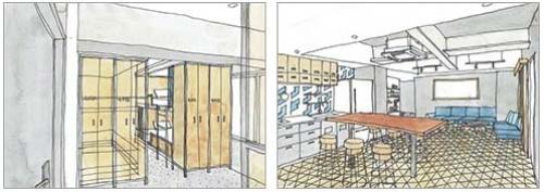 「CARGO CLASS」(シャワーとトイレが共同のホステルタイプの2段ベッドルーム)は1泊1人5000円(仮)。男女混合部屋と女性専用部屋がある