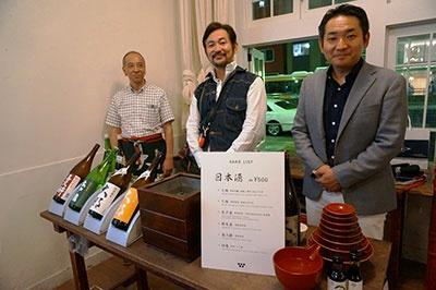 栃木県にある菊の里酒造の「大那」ほか、100MILEから厳選した日本酒が販売された