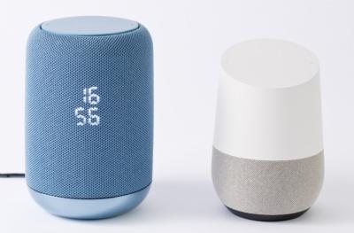 グーグル純正のスマートスピーカー「Google Home」よりも少しサイズは大きめ