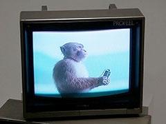 コーナーの一角では、話題となった猿のウォークマンCMも見ることができる