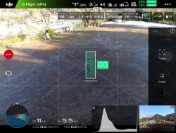 Phantom 4/Proと同様に、画面上の被写体を捕捉しながら追尾できる「ActiveTrack」モード。画面上の被写体を緑の四角いエリアで囲い、「GO」をタップすれば自動的に追尾が始まる