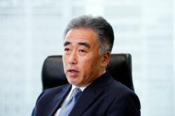 藤井清孝(ふじい・きよたか) 灘高校、東京大学法学部出身。新卒でマッキンゼー・アンド・カンパニーに入社後、SAPジャパン、LVJグループなどの社長を歴任。2017年から、コニカミノルタで常務執行役。(写真:尾関裕士)