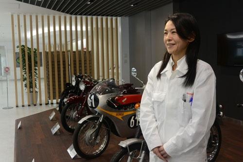 本田技術研究所の会田樹穂子さん。仕事と子育ての両立は  「何かを諦めることなくできている」