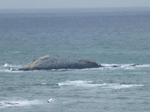 弁天島の様子。実質的にはこの島が最北端となる