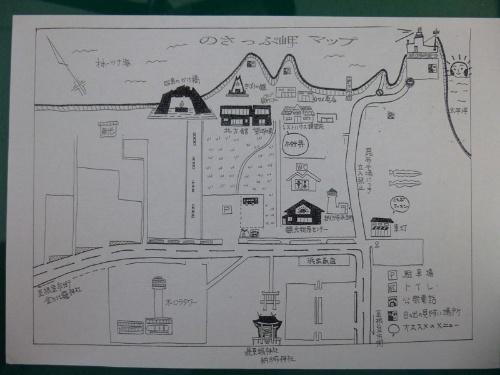 納沙布岬手作り詳細地図(根室駅前ターミナル)<br />実施の旅では、現地にあるチラシ等も重宝する