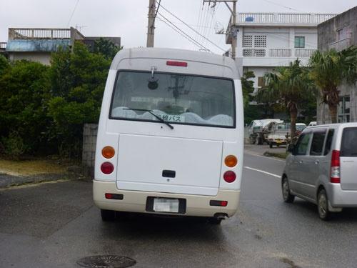到着した路線バス